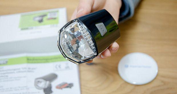 Chilitec Fahrrad LED-Beleuchtungsset CFL 30 pro im Test - LED Frontscheinwerfer mit 30 Lux / 70 Lumen