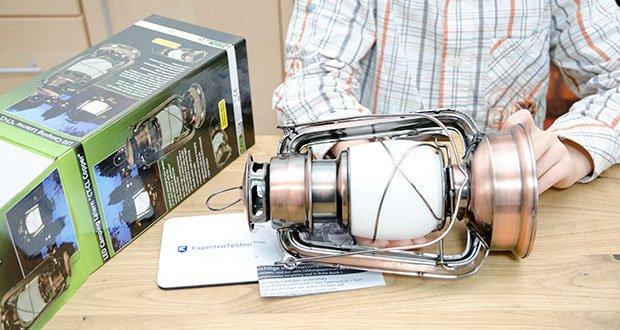 Chilitec LED Camping Laterne CT-CL Copper im Test - ØxH 12x23cm