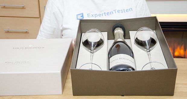 Louis Roederer Champagne Brut Premier im Test - Genuss zu Zweit Geschenkpackung mit 2 Gläser