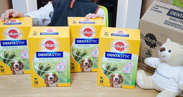 Pedigree DentaStix Daily Fresh Zahnpflegesnack für Hunde im Test - hilft der Bildung von Zahnstein entgegenzuwirken