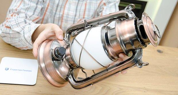 Chilitec LED Camping Laterne CT-CL Copper im Test - Ein-/Ausschalter mit Dimmer