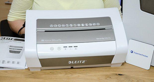 Leitz IQ Home Office Aktenvernichter im Test - vernichtet jedes Blatt A4 Papier in 4 x 28mm Partikelstücke (P-4 Sicherheitsstufe)