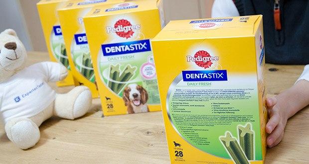 Pedigree DentaStix Daily Fresh Zahnpflegesnack für Hunde im Test - ohne künstliche Aromastoffe & ohne Zuckerzusatz