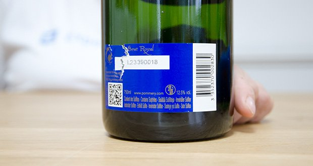 Pommery Brut Royal Champagner im Test - Rebsortenkomposition: Chardonnay (33%), Pinot Noir (33%), Pinot Meunier (33%)