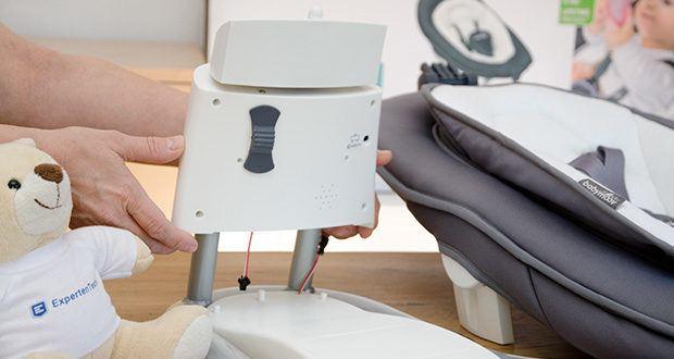 Babymoov Babyschaukel Swoon Motion Zink im Test - Batterie- oder Netzbetrieb möglich (Netzadapter inklusive)