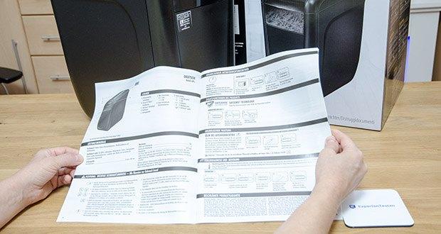 Fellowes Aktenvernichter Powershred 60Cs im Test - für die Sicherheit des Nutzers verfügt dieser Shredder über die patentierte Safe Sense Technologie, die das Gerät bei Berührung des Papiereinzugs automatisch stoppt