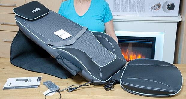 HoMedics Shiatsu MAX 2.0 Rücken- und Schultermassagegerät im Test - Vibrationsmassage im Sitz zur Lockerung der oberen Beinmuskulatur