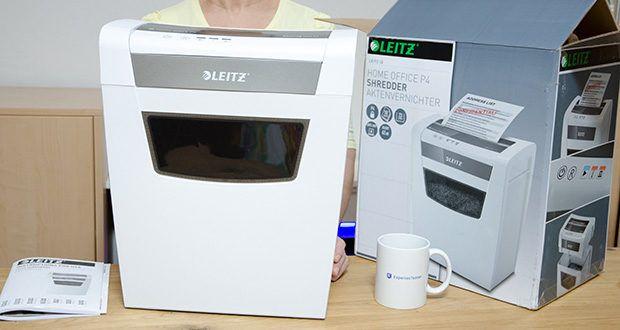 Leitz IQ Home Office Aktenvernichter im Test - Anti-Papierstau-Technologie für automatisches Anhalten/Zurücklaufen bei Befüllen mit zu viel Papier