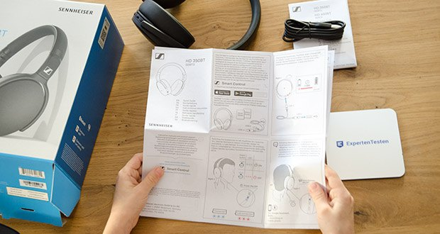 Sennheiser HD 350BT Kabelloser faltbarer Kopfhörer im Test - die neueste Drahtlostechnologie inklusive Bluetooth 5. 0 und Unterstützung der Codecs AAC sowie AptX rt Qualität und AptX Low Latency sorgt bei der Videowiedergabe für eine perfekte Synchronisierung von Bild und Ton