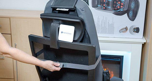 HoMedics Shiatsu MAX 2.0 Rücken- und Schultermassagegerät im Test - passt bequem auf die meisten Stühle