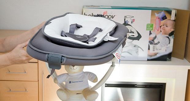 Babymoov Babyschaukel Swoon Motion Zink im Test - das kleinere Liegekissenist herausnehmbar und eignet sich ideal für Neugeborene