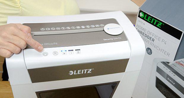 Leitz IQ Home Office Aktenvernichter im Test - zerkleinert bis zu 10 Blatt Papier in einem Durchgang im manuellen Einzug