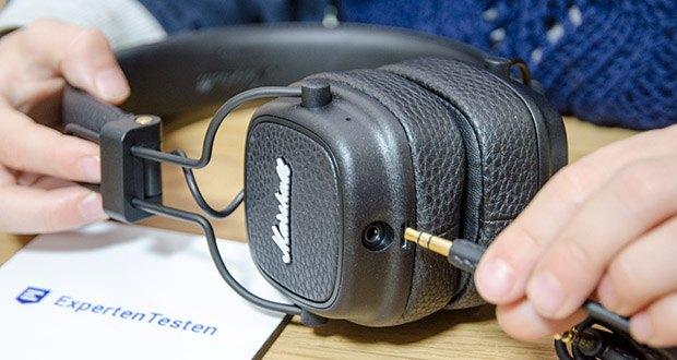 Marshall Major III Bluetooth Faltbar Kopfhörer im Test - inklusive abnehmbarem 3,5 mm Kabel und Micro-USB-Ladekabel