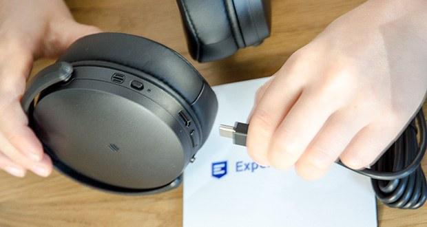 Sennheiser HD 350BT Kabelloser faltbarer Kopfhörer im Test - schnelles Laden via USB-C und aktuelle Bluetooth-5. 0-Drahtlostechnologie für problemlose, zuverlässige Verbindungen