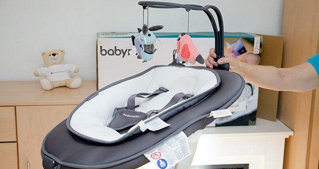Babymoov Babyschaukel Swoon Motion Zink im Test - mit verstellbarem Spielbogen