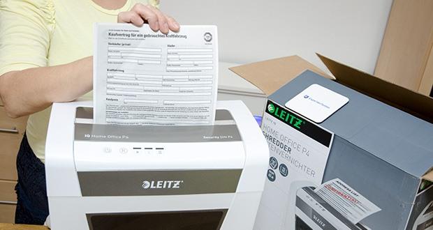 Leitz IQ Home Office Aktenvernichter im Test - für eine ruhige Arbeitsumgebung durch leisen Betrieb