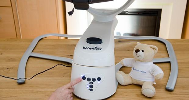 Babymoov Babyschaukel Swoon Motion Zink im Test - Spieluhr mit mp3-Qualität: 8x Schlaflieder/ Naturgeräusche