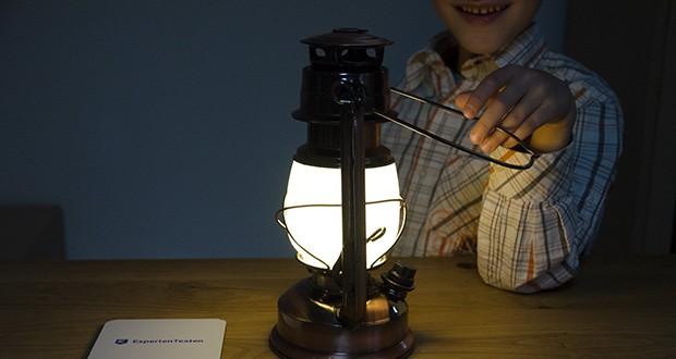 Chilitec LED Camping Laterne CT-CL Copper im Test - verbringen Sie die Abende auf Terrasse oder Balkon bei gemütlichem Leuchten einer Petroleumlampe - nur ganz ohne Feuergefahr!