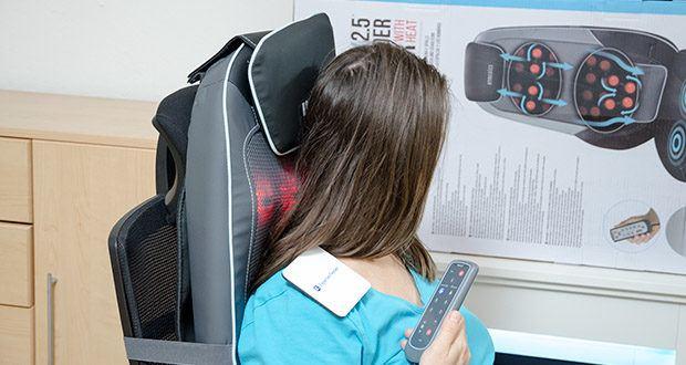 HoMedics Shiatsu MAX 2.0 Rücken- und Schultermassagegerät im Test - verstellbare Kopfstütze, verstärkte Seiten und gepolsterter Sitz für ultimativen Komfort