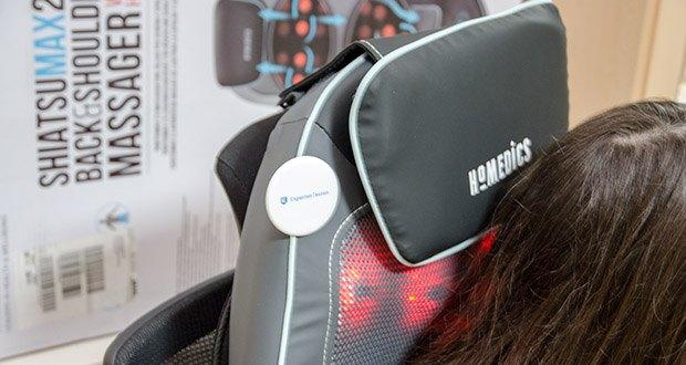 HoMedics Shiatsu MAX 2.0 Rücken- und Schultermassagegerät im Test - eine verstellbare Kopfstütze und abnehmbare Rückenabdeckung sorgen für ultimative Entspannung