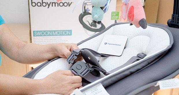 Babymoov Babyschaukel Swoon Motion Zink im Test - Rückenlehne 3-fach, Sitz 2-fach verstellbar