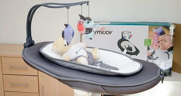 Babymoov Babyschaukel Swoon Motion Zink im Test - 180°-Position für komfortablen Schlaf