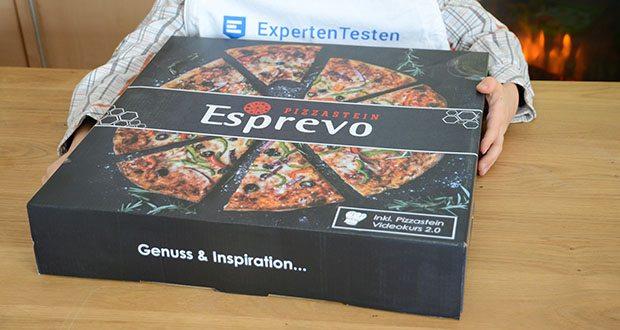 Esprevo Pizzastein Set im Test - originale Steinofen Pizza – Steinofeneffekt durch exzellente Wärmespeicherung