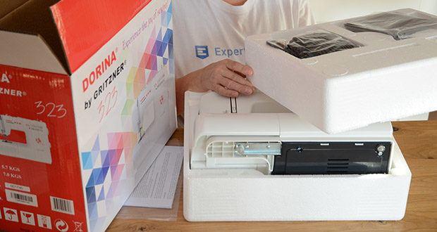 Gritzner Dorina Freiarm-Nähmaschine 323 im Test - einfache Handhabung