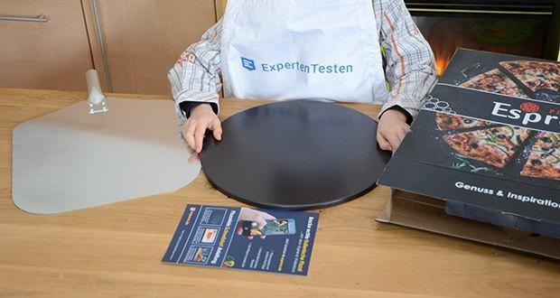Esprevo Pizzastein Set im Test - inkl. Steinofen Pizza Guide – Onlinekurs (15 Videos) mit Tipps & Rezepten