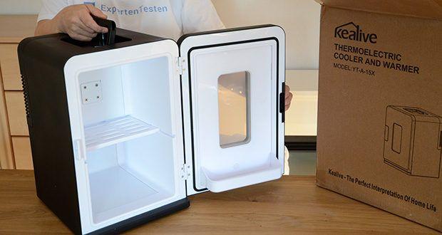Kealive Mini Kühlschrank im Test - 15 Liter großes Fassungsvermögen