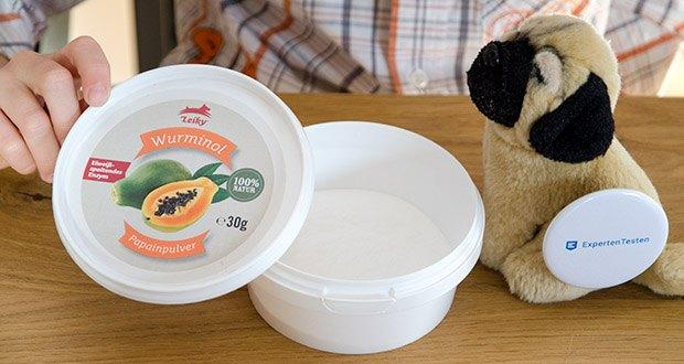 Leiky Wurminol Papainpulver Ergänzungsfutter im Test - auch für Welpen und sensible Hunde geeignet