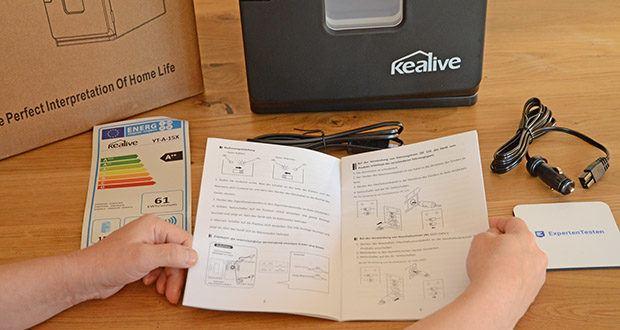 Kealive Mini Kühlschrank im Test - Kühlbereich ist 5-8 ° C, Heizbereich ist 55-65 ° C. Sie können es im Sommer als Kühlschrank zur Aufbewahrung von Getränken und Lebensmitteln und im Winter als Heizung verwenden