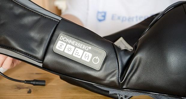 Donnerberg Nackenmassagegerät Premium NM089 im Test - Sie können sich selbst den Geschwindigkeitsgrad und die Richtung der 4D-rotierenden Massageköpfe aussuchen