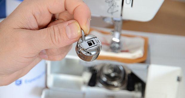 Gritzner Dorina Freiarm-Nähmaschine 323 im Test - stufenlose Einstellung der Stichlänge, Stichbreite und Fadenspannung