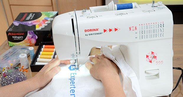 Gritzner Dorina Nähmaschine 333 im Test - ist vor allem für die Teilnahme an Nähkursen oder für den privaten Hausgebrauch sehr gut geeignet