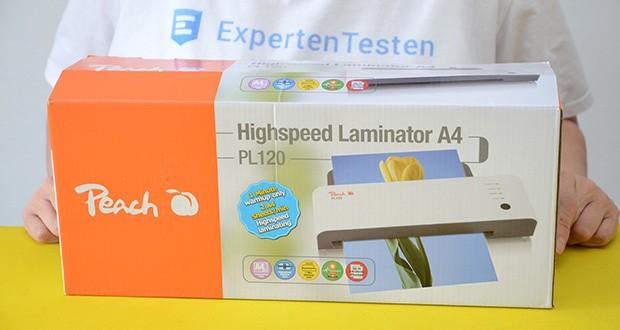 Peach Laminiergerät PL120 im Test - sparen Sie bis zu 60% Zeit beim Laminieren, dank einer kurzen Aufheizzeit und hoher Laminiergeschwindigkeit