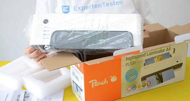 Peach Laminiergerät PL120 im Test - Produktabmessungen: 34 x 12 x 9 cm; Gewicht: 1.5 Kilogramm