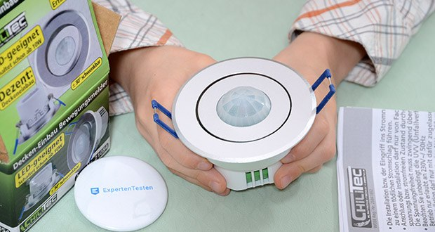 Chilitec Bewegungsmelder Decken-Einbau im Test - geeignet für LED