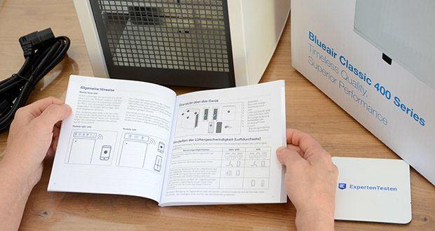 BLUEAIR Luftreiniger Classic 480i im Test - SmokeStop Technologie effektiv zu 99,97% auf die Partikel ≥ 0,3 μm