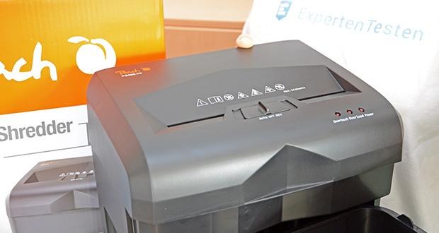 Peach Altenvernichter PS500-70 im Test - schneidet bis zu 16 Blatt 70g/m² (14 Blatt 80g/m²) in einem Durchgang
