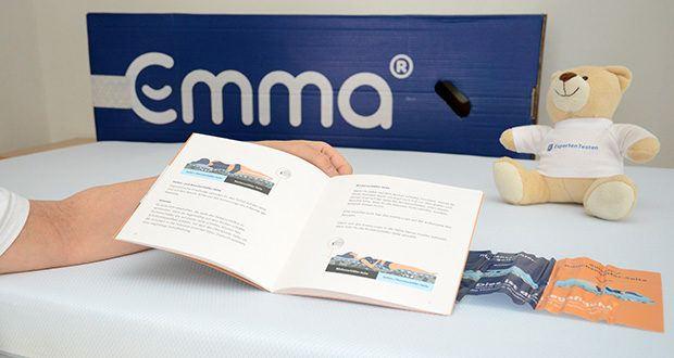 Emma Two Matratze 90x200cm im Test - durch das Drehen der Matratze um 180° um die eigene Achse kannst Du zwischen den zwei optimierten Hälften der Liegefläche für Rückenschläfer und Seiten- bzw. Bauchschläfer wählen
