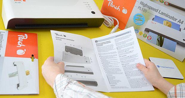 Peach Laminiergerät PL120 im Test - vielseitig: nicht nur für Papier geeignet, sondern auch für gedruckte Fotos, ID-Karten, Visitenkarten, Gepäckanhänger und vielem mehr