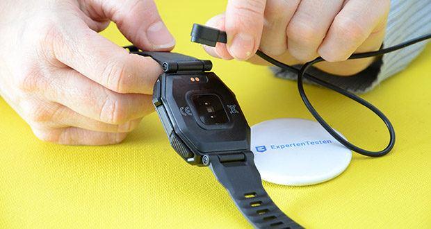 KOSPET Rock Smartwatch im Test - mit einem 350mAh super großen Akku kann KOSPET Rock bis zu 50 Tage im Freien aushalten