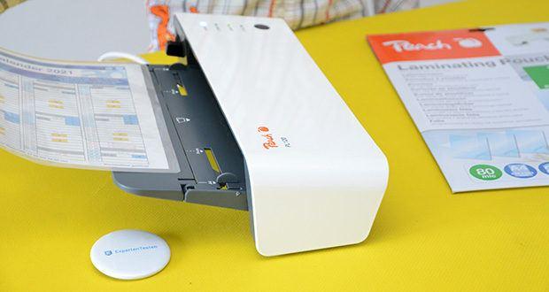 Peach Laminiergerät PL120 im Test - für Laminierfolien bis zu 2 x 125 Mikron