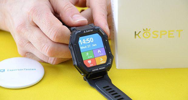KOSPET Rock Smartwatch im Test - das 1,69'' große Display bietet ein bemerkenswertes Eintauchen und eine bessere Touch-Erfahrung