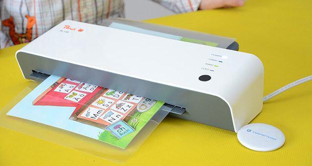 Peach Laminiergerät PL120 im Test - Laminiert DIN-A4 und kleinere Dokumente problemlos bis zur Folienstärke von 2x125 mic