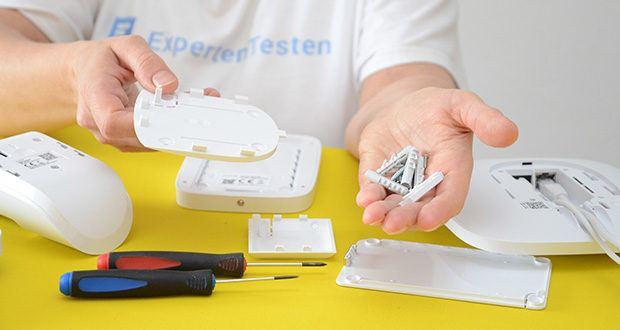 Ajax Alarmanlage im Test - die Installation erfordert ein Smartphone, etwas Werkzeug undsollte von qualifiziertem Personal durchgeführt werden