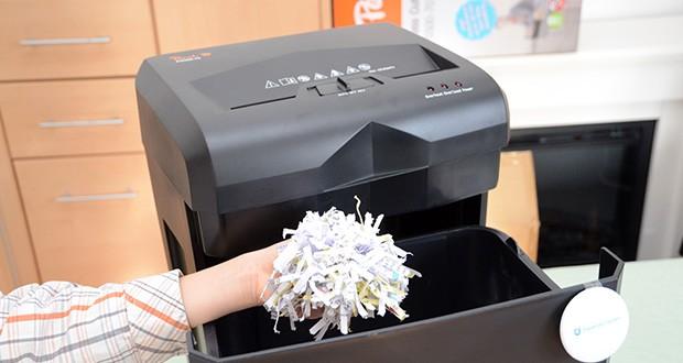 Peach Altenvernichter PS500-70 im Test - Kreuzschnitt mit einer Partikelgröße von 5 x 32 mm - mehr als 380 Schnipsel pro A4