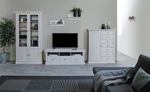 Auswahl eines Wohnzimmerschrankes modern im Vergleich
