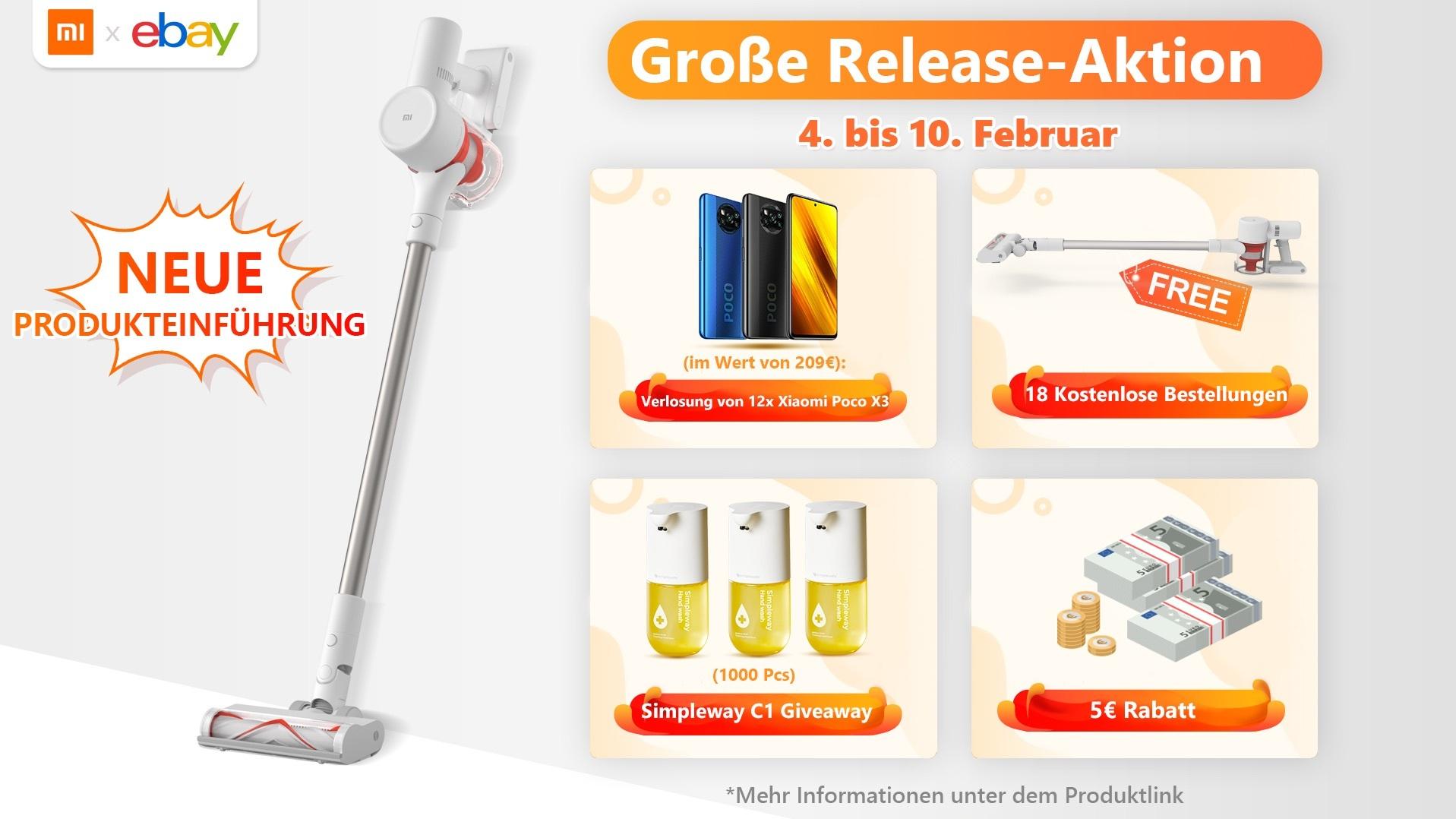 Mi Vacuum Cleaner G9 von Xiaomi gewinnen!